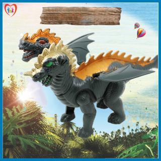 Đồ chơi khủng long 2 đầu có cánh di chuyển bằng pin siêu thú vị, đồ chơi tặng bé giá rẻ thumbnail