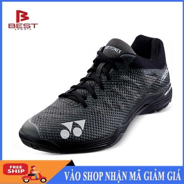 Giày cầu lông Yonex đen lưới chuyên nghiệp, êm ái, bền bỉ, dành cho nam và nữ, đủ size