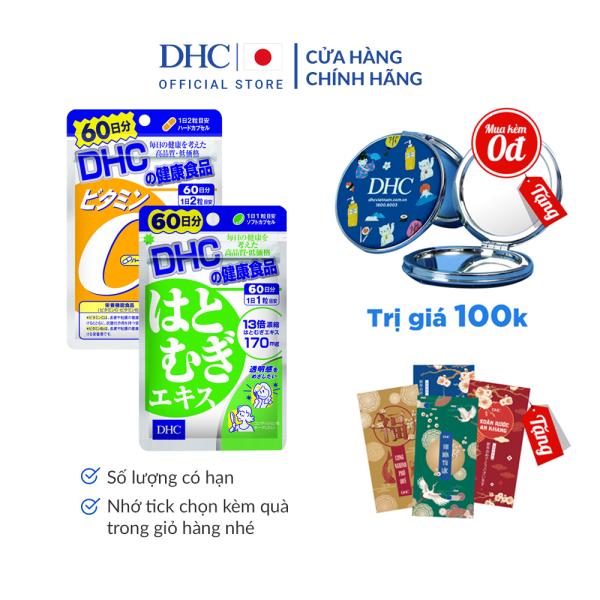 Combo Viên uống DHC Sáng da - Mờ thâm 60 Ngày (Adlay & VitaminC)
