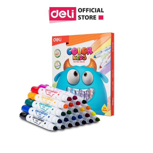 Mua Bút màu nước ( vỉ ) Deli - 24 màu - 1 vỉ - EC10420
