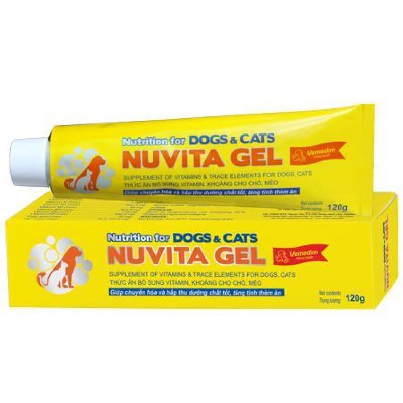 Thức ăn bổ sung vitamin, khoáng cho chó, mèo NUVITA GEL (tube nhựa), Vemedim