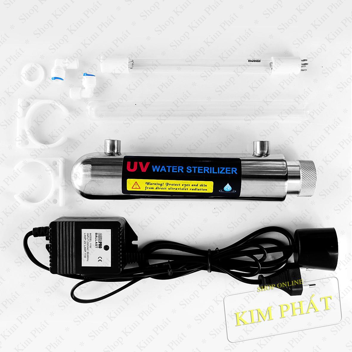 Giá Bộ đèn cực tím UV 11W - đèn uv (4 chấu)