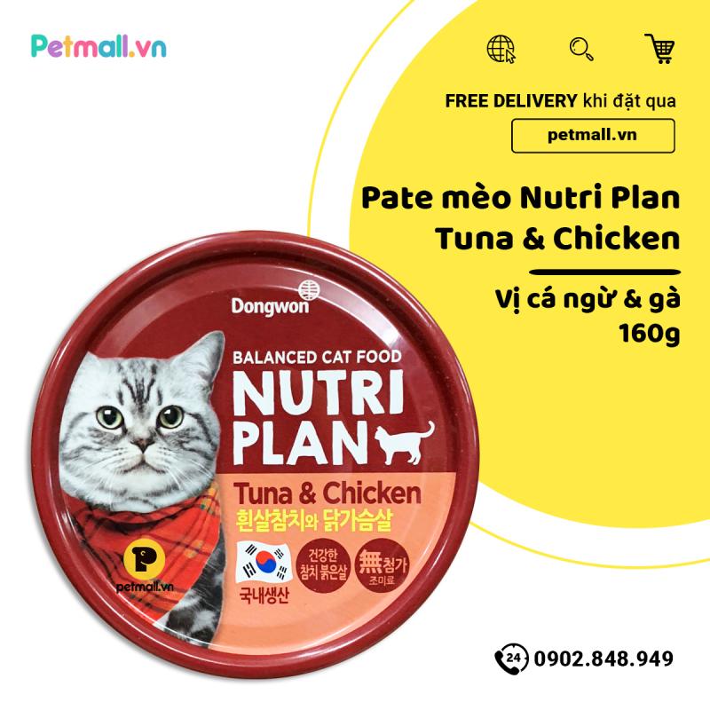 Pate mèo Nutri Plan Tuna & Chicken 160g