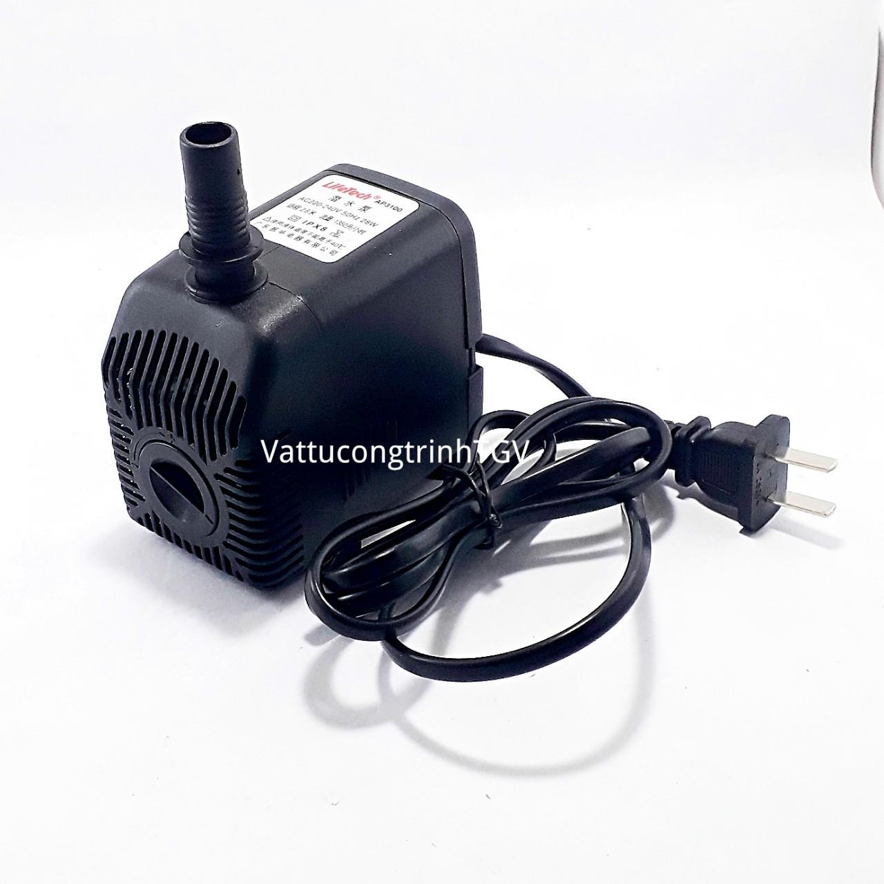 Bơm chìm mini AP3100 220V-28w cho bể cá quạt hơi nước