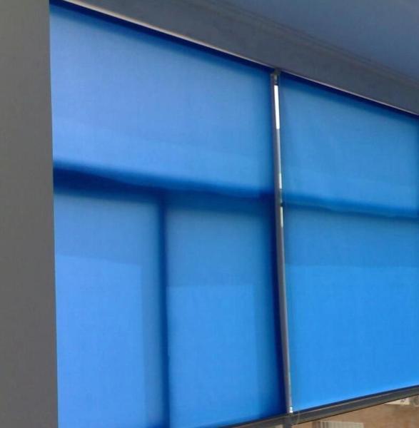 Rèm Cuốn Chắn Nắng Cao Cấp Curtain Rolling - Rèm Cuốn Dùng Cho Văn Phòng Màu Xanh