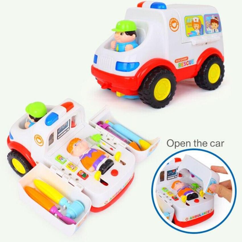 Đồ Chơi Xe Cứu Thương Bác Sĩ Bộ Xe 2 Trong 1 Hãng Huile Toys - Q5836 Giá Ưu Đãi Nhất