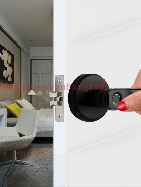 Khóa cửa vân tay kiểu tròn lắp đặt dễ dàng VB01