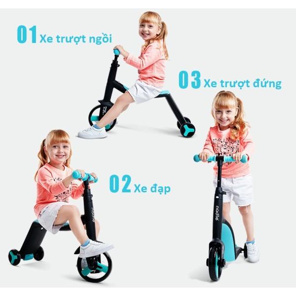 Mua Xe Trượt Scooter Nadle 3 trong 1 - Đa năng tiện lợi dễ sử dụng với 3 chức năng vừa xe đạp