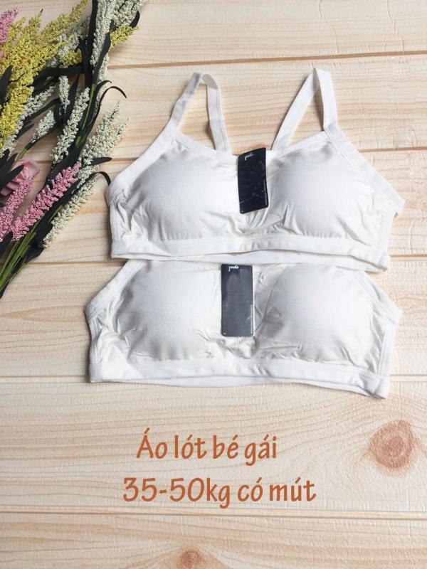 Nơi bán Áo lót bé gái mới lớn có mút - Combo 2 áo lá size đại cho bé 38-50kg