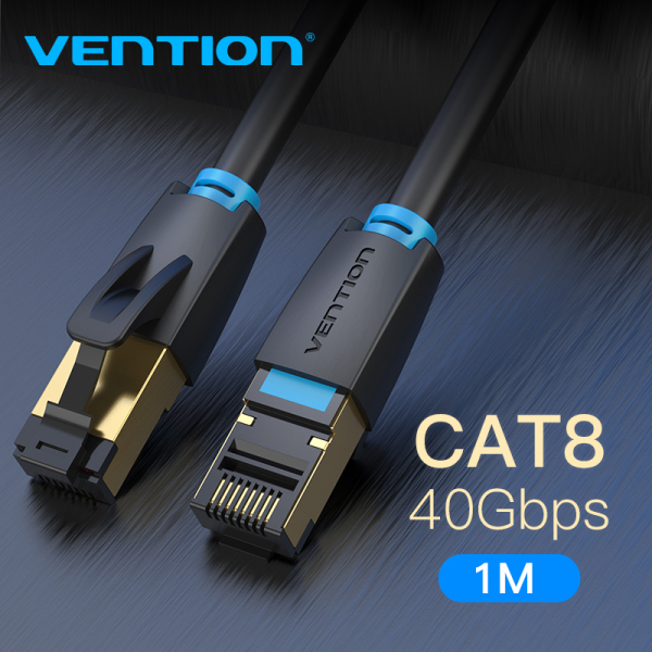 Vention dây cáp mạng lan Cat 8 Ethernet Cable SFTP 40Gbps Super Speed RJ45 Network Wifi Cable Cat8 Gold Plated Connector CAT 8 Internet Cable 1M 2M 3M 5M 10M for Router Modem dây lan Cat 8