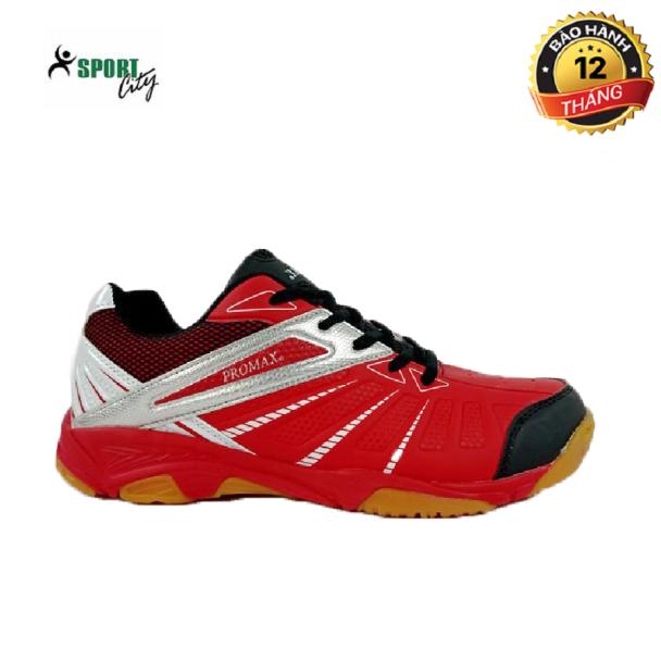 Giày cầu lông nam nữ Promax đế kếp, chống trơn trượt, bền và êm chân, màu đỏ  - Giày bóng chuyền nam - Giày thể thao nam nữ giá rẻ