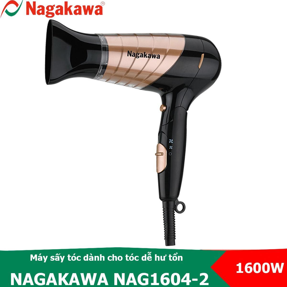 Máy sấy tóc 3 tốc độ, 1600W Nagakawa NAG1604 có chế độ sấy mát dành cho tóc dễ hư tổn (Màu ngẫu nhiên) cao cấp