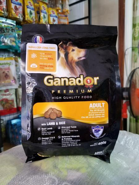 Combo 25 gói Thức ăn cho chó trưởng thành vị thịt cừu và cơm Ganador Adult Lamb and Rice 400g