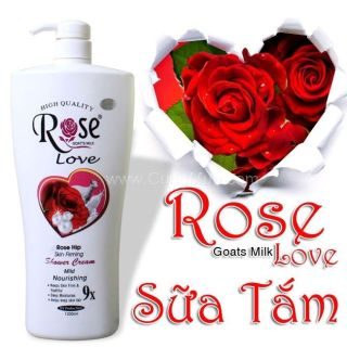siêu thơm - chai Sữa Tắm Dê Cao Cấp ngăn tia UV Elizamosa Rose 8x Goat s Milk Shower Cream 1200ml Hương hoa hồng thumbnail