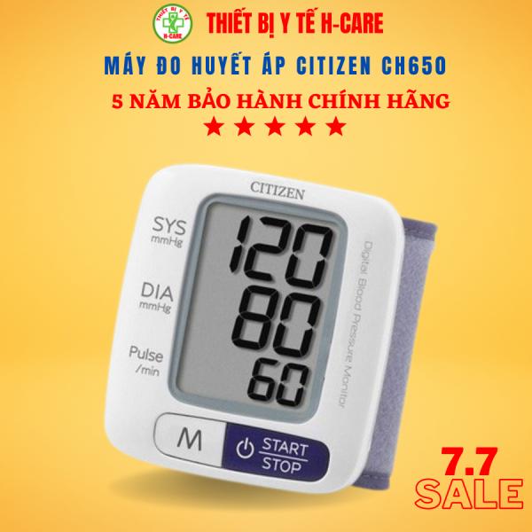 Nơi bán Máy đo huyết áp cổ tay điện tử Citizen (Japan) CH650 - Đo thử huyết áp cao thấp, nhịp tim hoàn toàn tự động - Chất lượng cao giá rẻ, tin cậy chính xác - Bảo hành chính hãng 5 năm [TBYT H-Care]