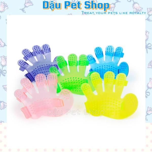 Găng tay tắm massage cho chó mèo