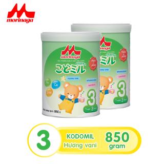 Combo 2 hộp Sữa Morinaga Số 3 Kodomil Cho Bé Từ 3 Tuổi - Hương Vani 850gr - HSD T12 2021 (không đai đổi quà) thumbnail