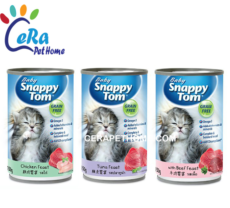 Pate Mèo Lon - Baby Snappy Tom Mèo Con 150gr