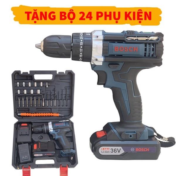 (Loại Tốt) Máy Khoan Pin Bắn Vít 36V BOSCH  - 2 Pin Chuẩn - Full Phụ Kiện 24 Chi Tiết - 100% Lõi Đồng