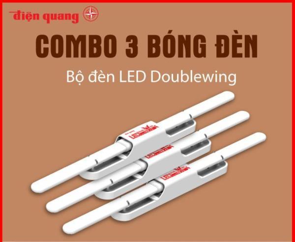 Combo 3 Bộ đèn LED Doublewing Điện Quang ĐQ LEDDW01 36765 (36W daylight)