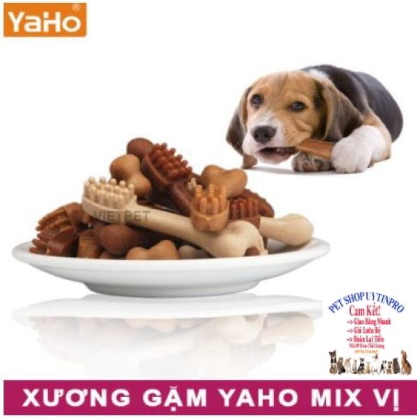 XƯƠNG GẶM CHO CHÓ THÚ CƯNG Yaho Veterinarian Recommended Mix vị Gói 240g Giúp sạch răng Thơm miệng Loại bỏ mảng bám