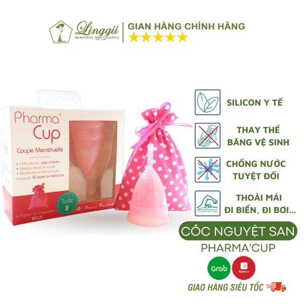 Cốc Nguyệt San Pharma Cup Silicone Y Tế Pháp Siêu Mềm Chính Hãng, Thay Thế Băng Vệ Sinh - LINGGII
