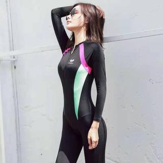 Bộ Đồ bơi nữ Tay Dài Chống Nắng, Bộ Đồ lặn Nữ,Bộ Đồ Tập Thể Hình Đi Biển Ngoài Trời-bộ bơi nữ thumbnail