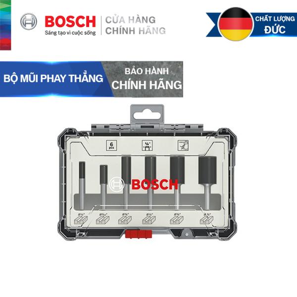 Bộ mũi phay thẳng Bosch 6 món
