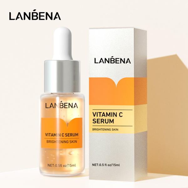 LANBENA Vitamin C Serum chứa vitamin C xoá tàn nhang làm mờ vết thâm chống lão hoá dưỡng ẩm làm trắng da