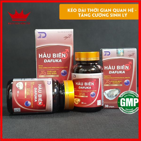 Hộp 30 viên uống Tinh Hàu Biển DAFUKA Tăng Cường Sinh Lý Nam, Cường Dương - Chuẩn GMP Bộ Y Tế cao cấp