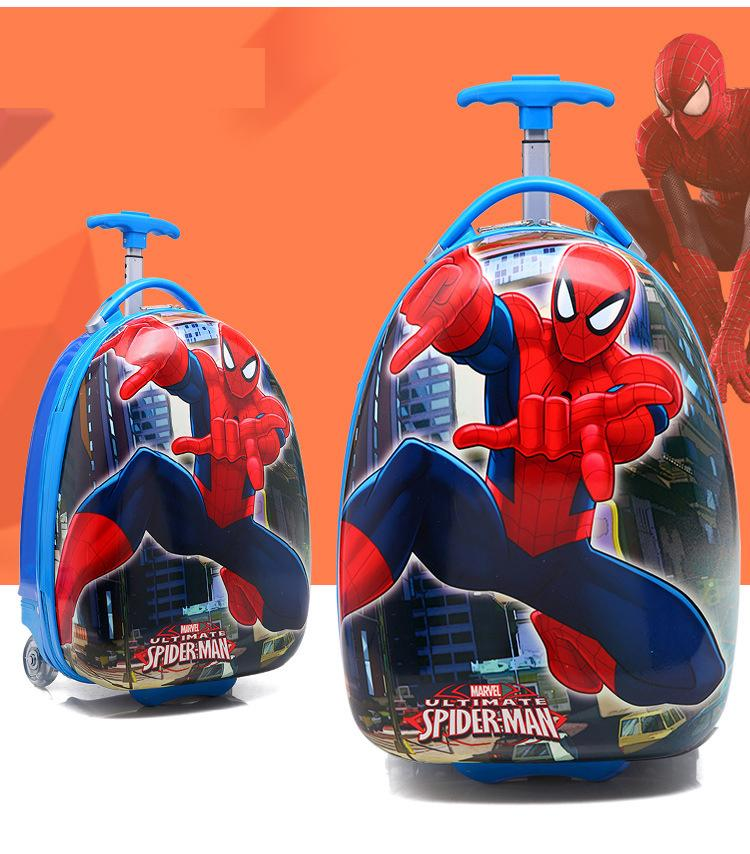 Vali kéo du lịch trẻ em KABID hình Người nhện Spiderman( Đỏ)