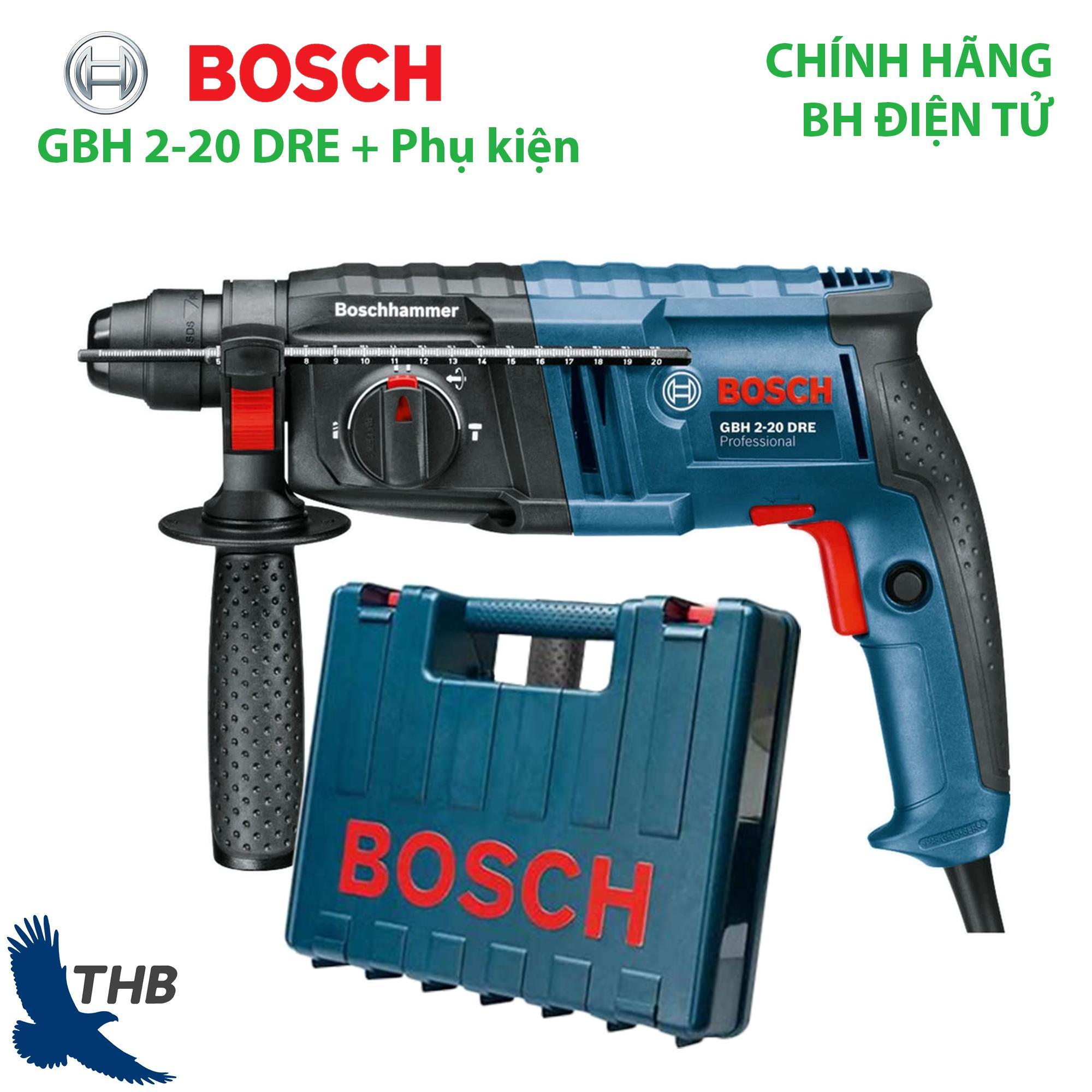 Máy khoan bê tông Máy khoan búa Bosch GBH 2-20 DRE kèm phụ kiện Công suất 600W