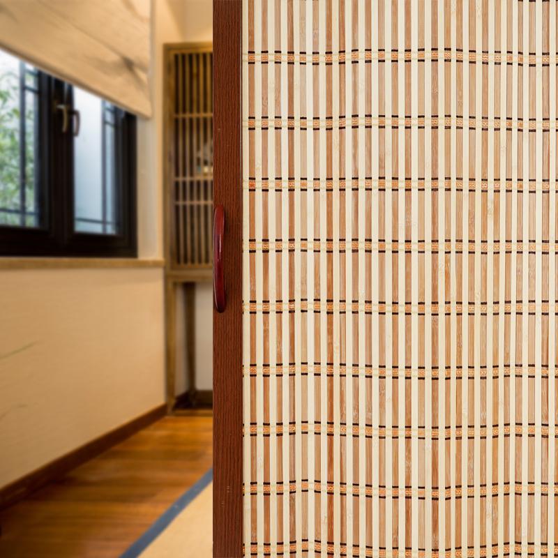 The Bamboo Screen Folding Sliding Door gen yi men Living Room Shading Side Door Curtain Partition Household Bedroom Shopping Mall Sliding Door