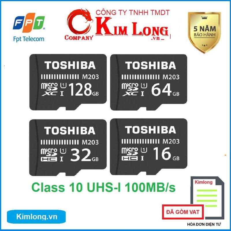 Thẻ nhớ Toshiba 16GB / 32GB / 64GB Micro SD Class 10 UHS-I 100MB/s hàng FPT