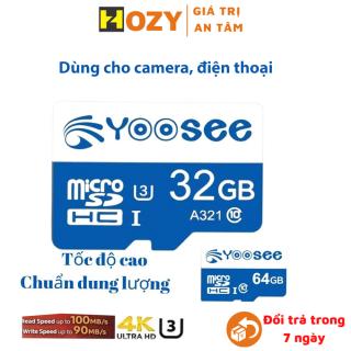 Thẻ nhớ Yoosee 32Gb class 10 U3, tốc độ cao, dùng cho camera wifi, camera hành trình thumbnail