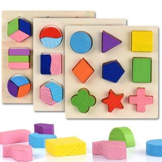 Bộ xếp các khối hình học bằng gỗ giúp bé phát triển trí tuệ sớm - Đồ chơi cho bé - Đồ chơi gỗ thumbnail