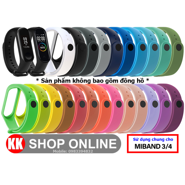 Dây đeo miband thay thế cho Xiaomi Miband 3 Xiaomi Miband 4