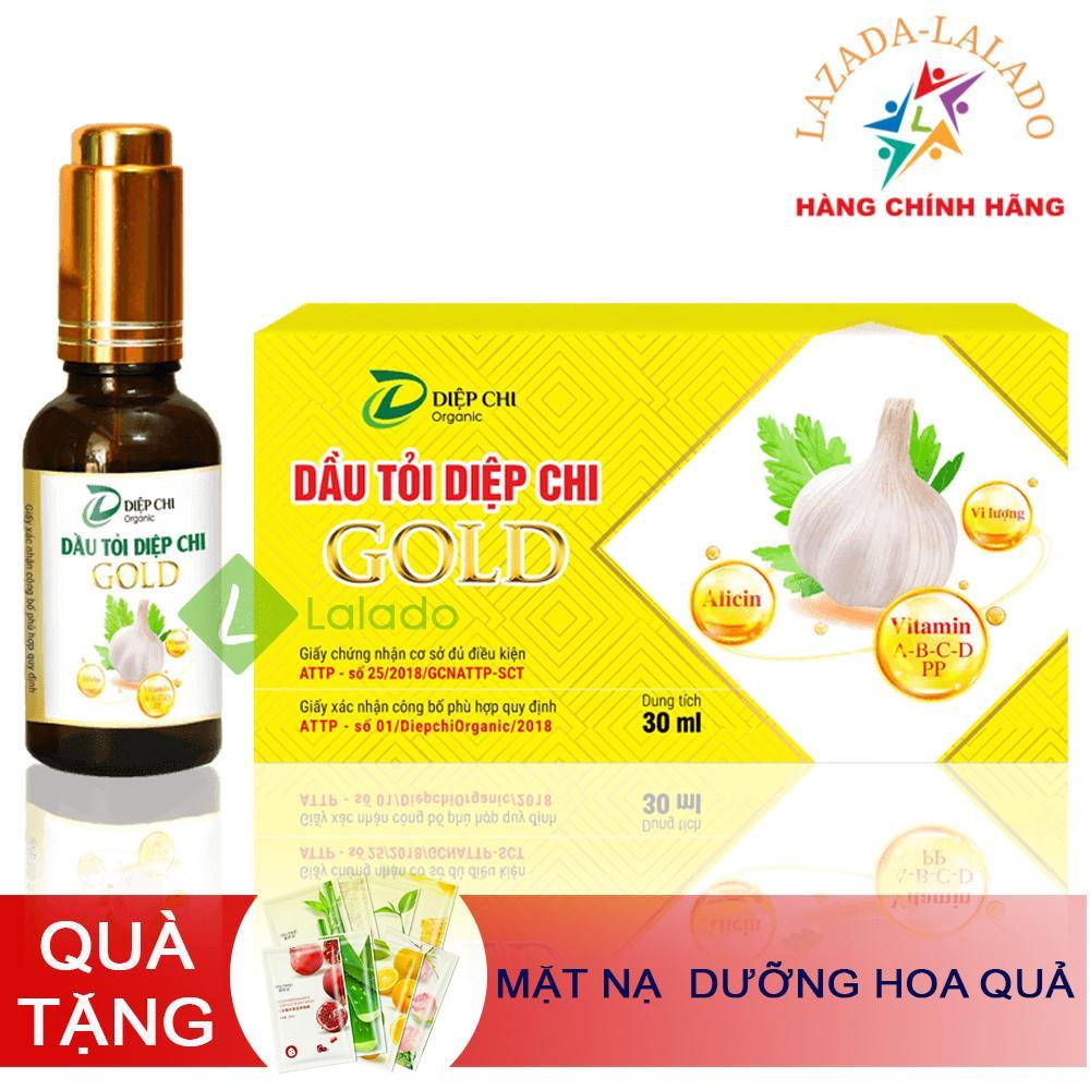 Dầu tỏi 100% nguyên chất Diệp Chi Gold 30ml - Trị cảm, ho, sỗ mũi, Tăng đề kháng - Quà Tặng