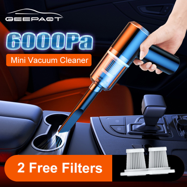 Geepact 4500/6000pa Máy hút bụi cầm tay mini dùng cho xe hơi công suất cao hút cực mạnh cực sạch hút được cả ướt và khô gọn nhẹ tiện lợi âm thanh hút êm