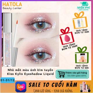 HATOLA - Nhũ mắt màu ánh kim tuyến Kiss Kylis Eyeshadow Liquid, Nhũ Lỏng trang điểm thời thượng lấp lánh ngôi sao Nội địa trung HTL-NHU MAT 01 thumbnail
