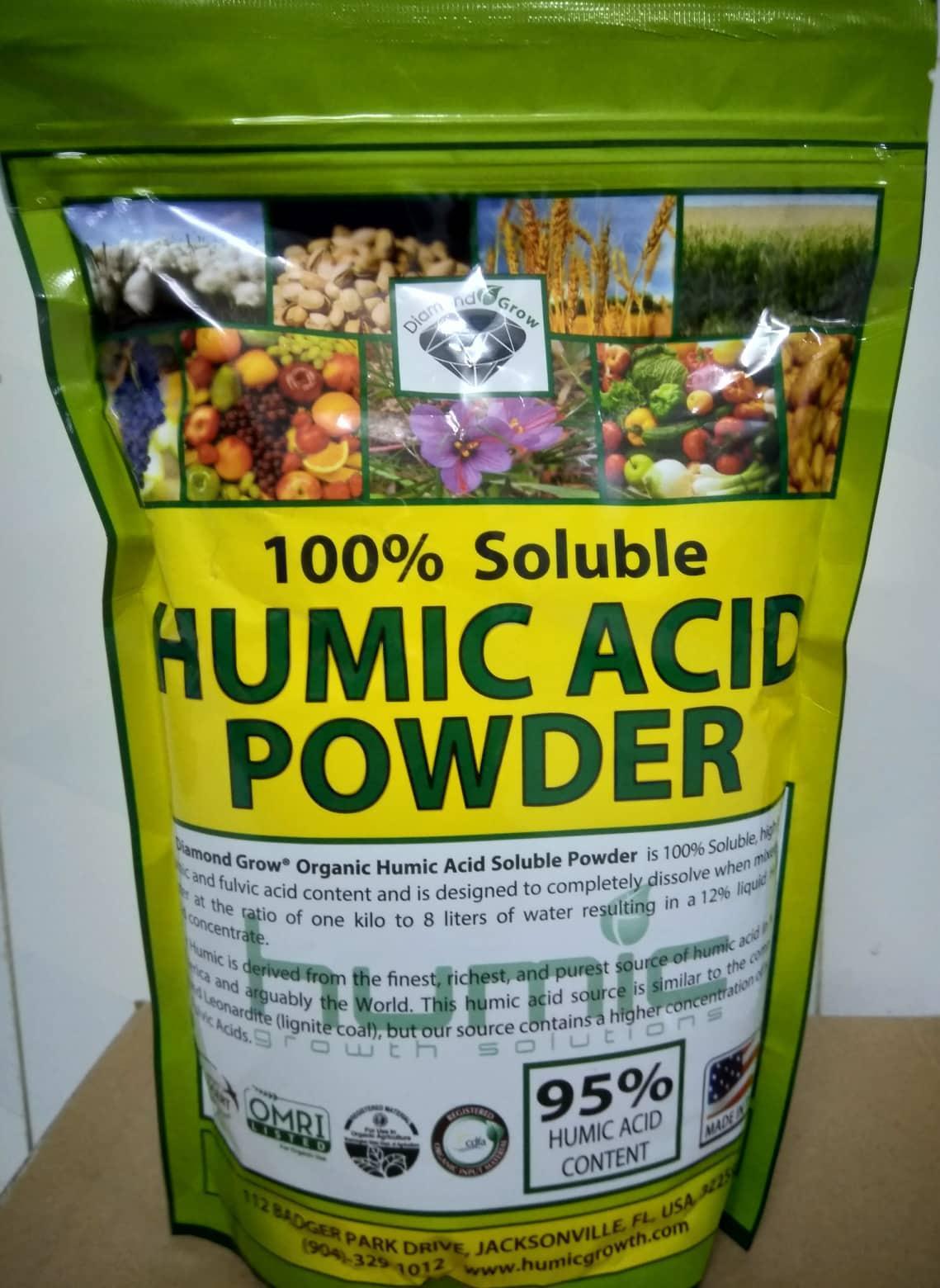 Phân sinh học Humic Acid Powder - Túi 1kg - Nhập khẩu trực tiếp từ Mỹ