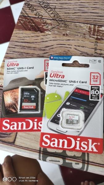 [Flash Sales] Thẻ Nhớ 32gb microSDHC SanDisk Ultra UHS-I up to 80mb/s - Hãng phân phối chính thức
