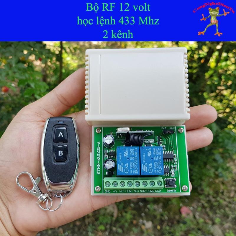 Bộ mạch điều khiền từ xa  RF 12 volt 2 kênh - 2 nút + 1 board 2 role