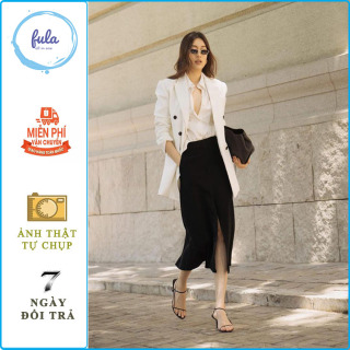 [CÓ VIDEO + CÓ QUÀ TẶNG] Áo khoác nữ dạng vest dáng blazer Bershka màu trắng kem xuất dư , xịn full tem mác chíp , thời trang công sở cao cấp . Fula thumbnail