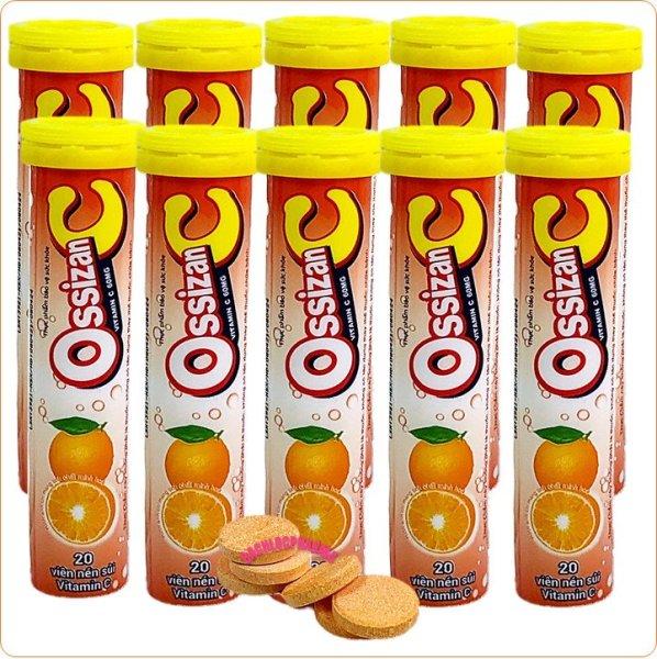 [Combo 8 Tuyp] Viên Sủi Ossizan Bổ Sung 10 Loại Vitamin Và Khoáng Chất – Giúp Tăng Cường Sức Đề Kháng, Tăng Sức Bền Thành Mạch, Tăng Cường Thể Lực, Giảm Căng Thẳng, Mệt Mỏi