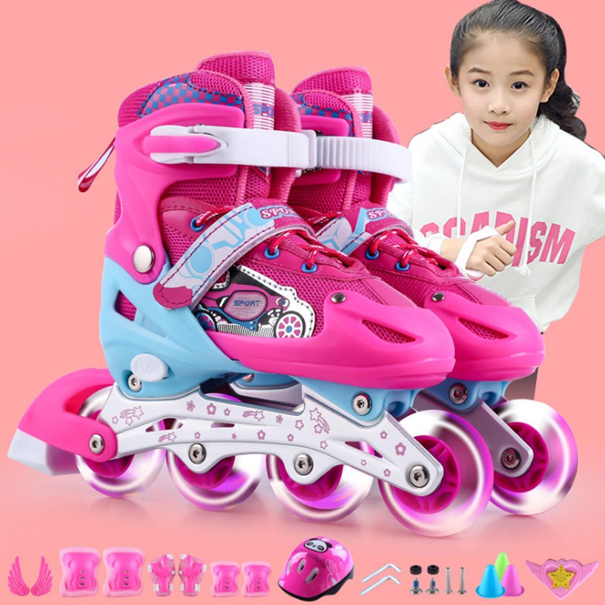 Giá bán Giày trượt patin trẻ em cao cấp + Tặng kèm đầy đủ phụ kiện (mũ bảo hiểm, bảo vệ tay chân, đồ trang trí)