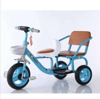 Xe đạp xích lô 2 ghế cho bé - chịu lực đến 50kg thumbnail