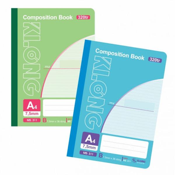 Sổ may dán gáy A4 - 200, 260 ,300 trang klong