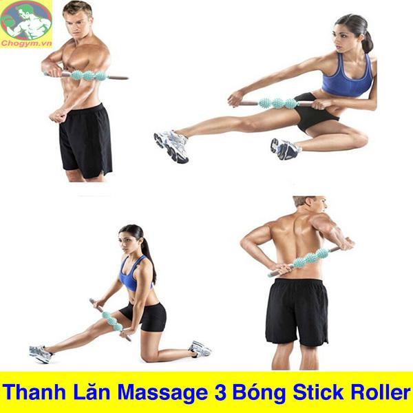 Bảng giá Thanh Lăn Massage Cơ Bắp 5 Bóng Roller Stick Tập Gym Yoga