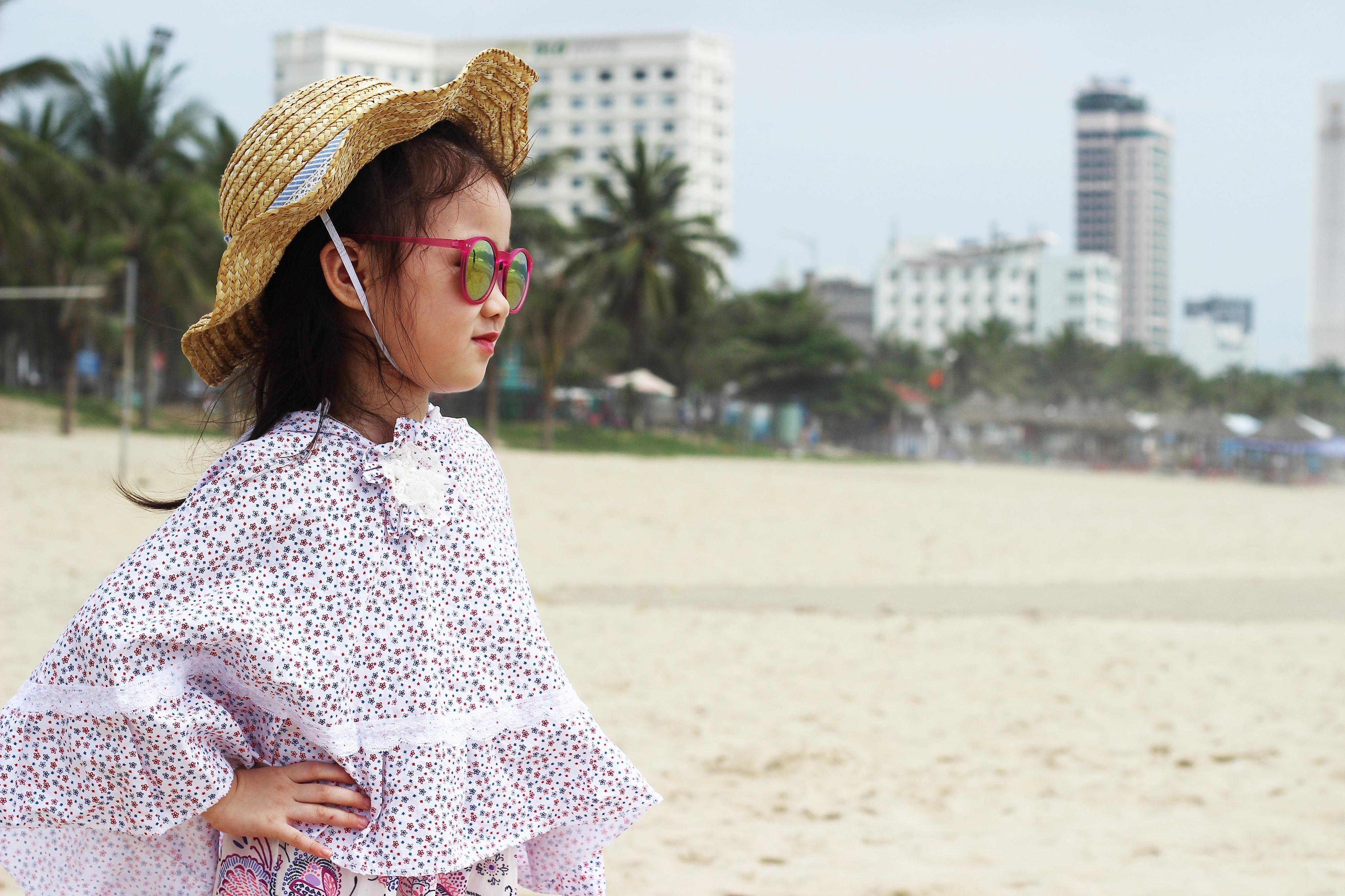 Áo chống nắng cánh dơi bé gái 1 lớp thô hoa T&K MLHN01 từ 1-8 tuổi
